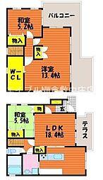 [一戸建] 岡山県岡山市北区川入丁目なし の賃貸【/】の間取り