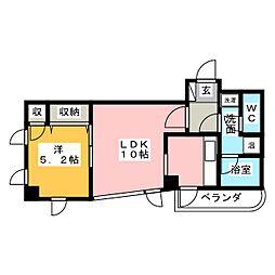 グランデュール覚王山[4階]の間取り