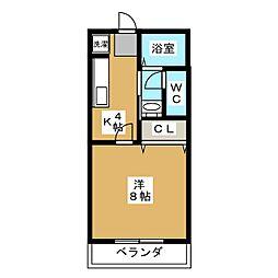 サン・friends芳ヶ崎 B棟[1階]の間取り
