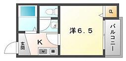 NAVI古川橋[3階]の間取り