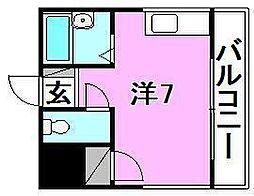 美桃園第2コーポ[303 号室号室]の間取り