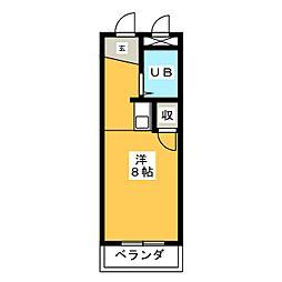 マンションハル真清田[5階]の間取り