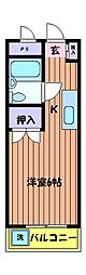セントラルマンション[4階]の間取り