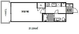 セレニテ三宮 10階1Kの間取り