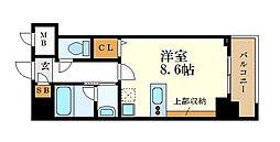 名古屋市営名城線 金山駅 徒歩12分の賃貸マンション 8階1Kの間取り