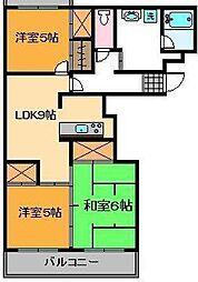 東京都足立区一ツ家1丁目の賃貸マンションの間取り