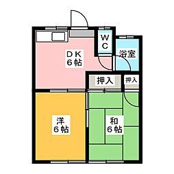 加藤ハイツ[1階]の間取り