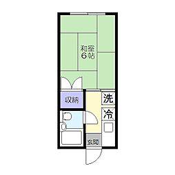 清風荘[107号室]の間取り