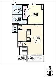 ベルハウス尾平[1階]の間取り