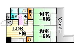 レジデンス木野川[5階]の間取り