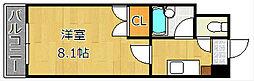 エフズフラッツ古船場[12階]の間取り
