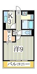 セレニティーホームズA[3階]の間取り