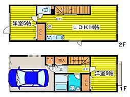 [タウンハウス] 北海道札幌市東区北三十八条東4丁目 の賃貸【北海道 / 札幌市東区】の間取り