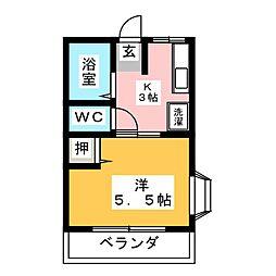 シティハイムアルカディア[2階]の間取り