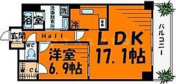 大阪府大阪市中央区北久宝寺町3丁目の賃貸マンションの間取り
