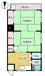 東京都三鷹市上連雀8丁目の賃貸アパートの間取り