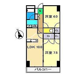 カーサM1[4階]の間取り