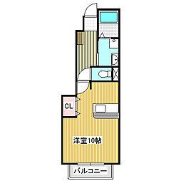 愛知県名古屋市中川区東中島町6丁目の賃貸アパートの間取り