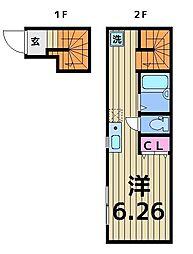 BASE亀有[2階]の間取り