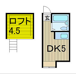 第6コーポ稲垣[2階]の間取り