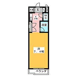 ソレーユI[2階]の間取り