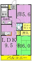 ピュアグリーン四季A・B[2202号室]の間取り