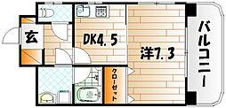 ヒット馬借BLD[2階]の間取り