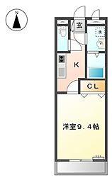 兵庫県たつの市揖西町南山2丁目の賃貸マンションの間取り