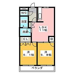 ロジュモ[2階]の間取り