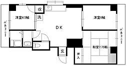 サニーハウス池田[2階]の間取り