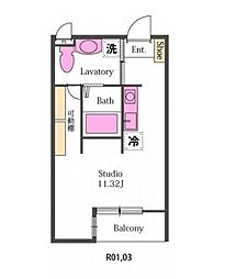 新築プルーヌ[1階]の間取り