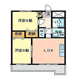 福岡県北九州市門司区旧門司1丁目の賃貸マンションの間取り