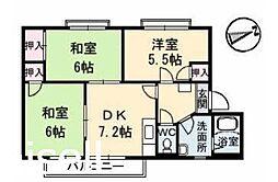 広島県広島市佐伯区五日市中央4丁目の賃貸アパートの間取り