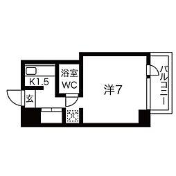 チサンマンション丸の内第3[3階]の間取り