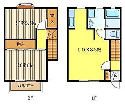 ベルトリーB[1階]の間取り