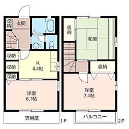 [テラスハウス] 埼玉県さいたま市大宮区北袋町1丁目 の賃貸【/】の間取り