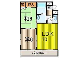 コーポ川島[101号室]の間取り