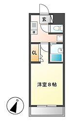 愛知県名古屋市西区枇杷島2の賃貸マンションの間取り