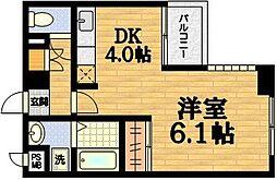 サザン桃山御陵[4階]の間取り