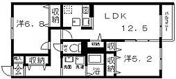 ロイヤルハーベスト21[105号室号室]の間取り