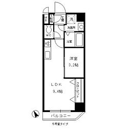 愛知県西尾市本町の賃貸マンションの間取り