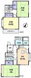 [一戸建] 千葉県佐倉市上志津 の賃貸【/】の間取り