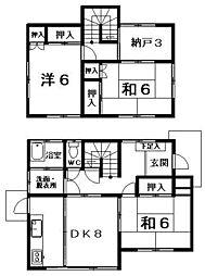 [一戸建] 福岡県福岡市南区井尻4丁目 の賃貸【/】の間取り
