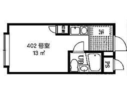 ニューオリエント小金井[4階]の間取り