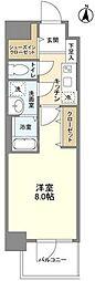 都営大江戸線 蔵前駅 徒歩7分の賃貸マンション 1階1Kの間取り