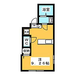 北区豊島1丁目新築仮称 3階ワンルームの間取り