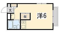 兵庫県姫路市苫編南の賃貸アパートの間取り