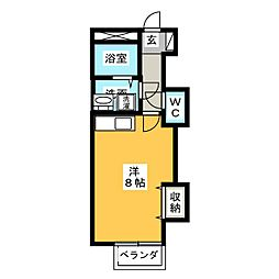 サンパティークB[2階]の間取り