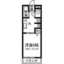レトア中村B[101号室]の間取り