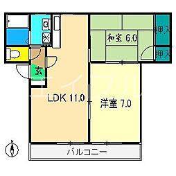 Ksハウス[1階]の間取り